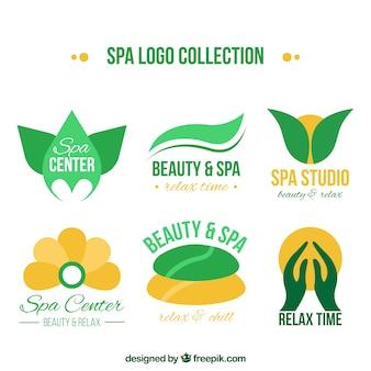 Coleção de logotipo abstrato spa