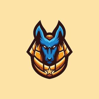 Coleção de logotipo anubis