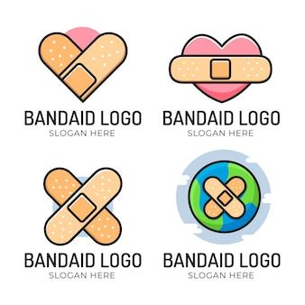 Coleção de logotipo bonito do band-aid