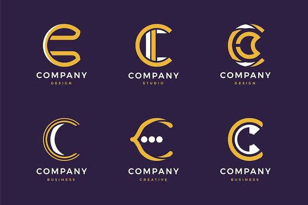 Coleção de logotipo c