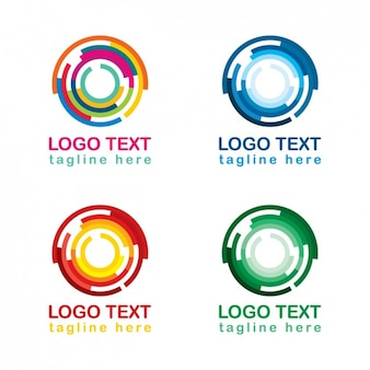 Coleção de logotipo circular colorido