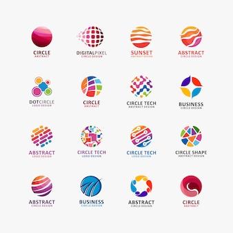 Coleção de logotipo círculo abstrato