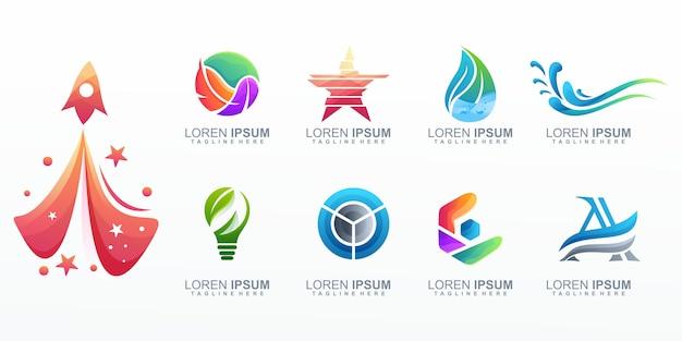 Coleção de logotipo corporativo