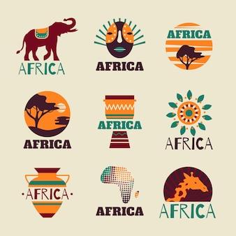 Coleção de logotipo da áfrica