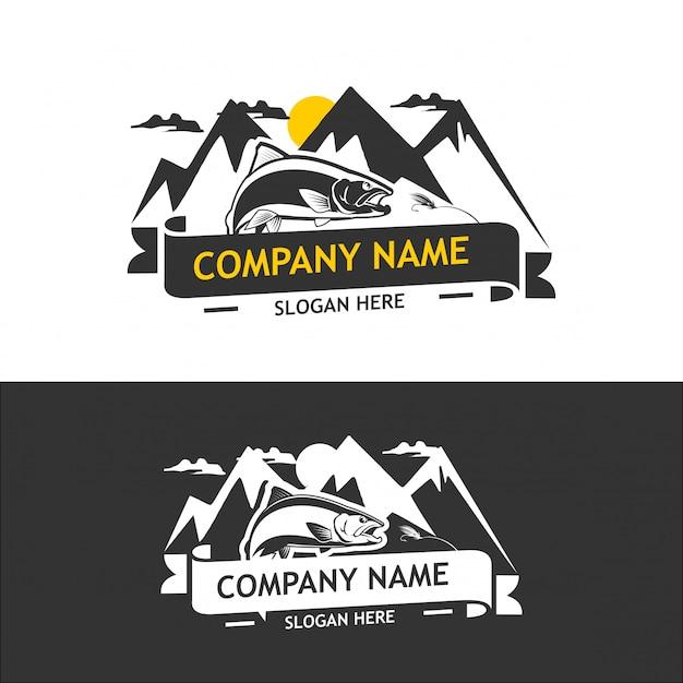 Coleção de logotipo da companhia de pesca