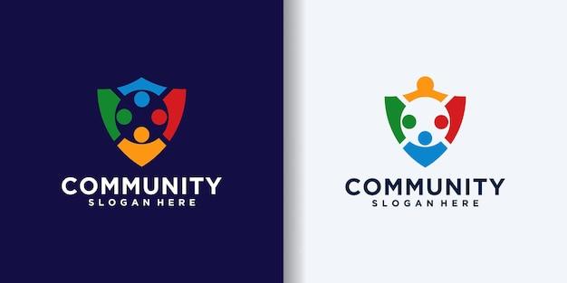 Coleção de logotipo da comunidade de segurança