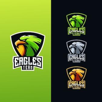 Coleção de logotipo da equipe águia