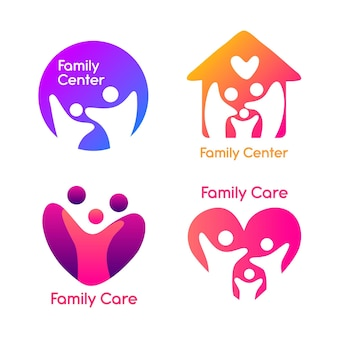 Coleção de logotipo da família