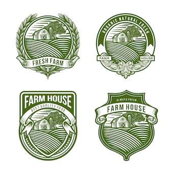Coleção de logotipo da fazenda