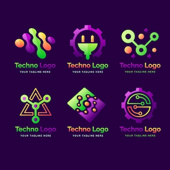 Coleção de logotipo da gradient electronics