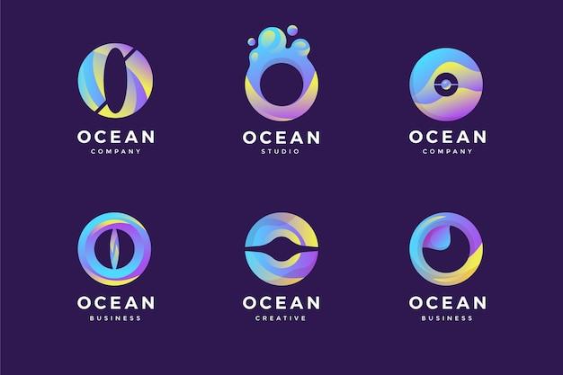 Coleção de logotipo da gradient o