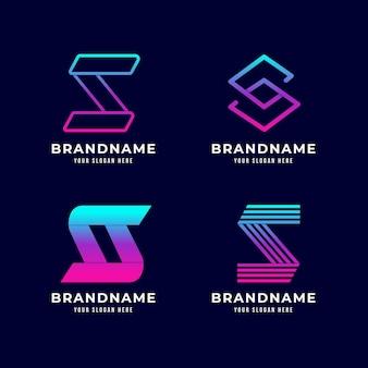 Coleção de logotipo da gradient