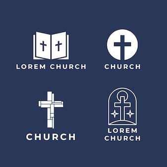Coleção de logotipo da igreja