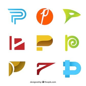 Coleção de logotipo da letra abstrata c