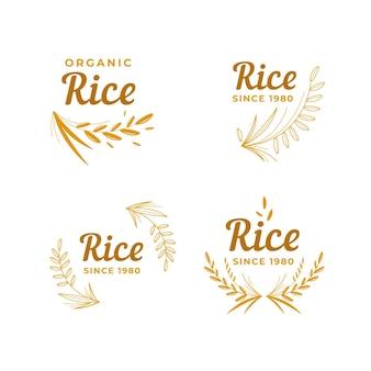 Coleção de logotipo da rice