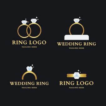 Coleção de logotipo de anel plano Vetor grátis