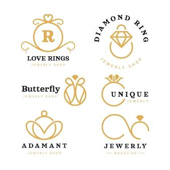 Coleção de logotipo de anel plano