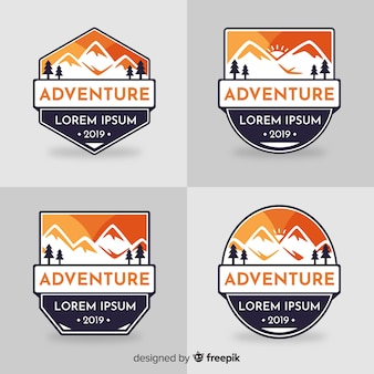 Coleção de logotipo de aventura