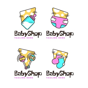 Coleção de logotipo de bebê fofo