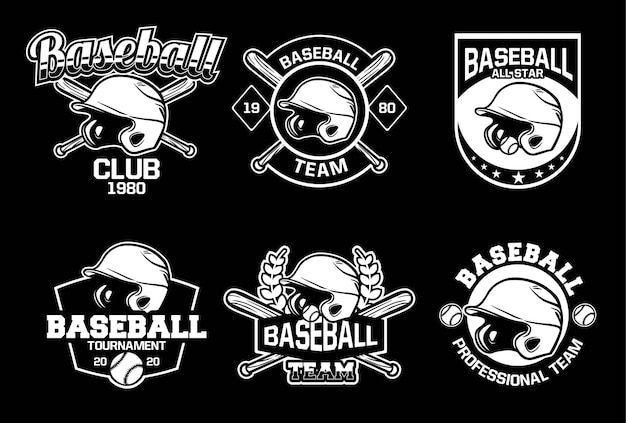 Coleção de logotipo de beisebol