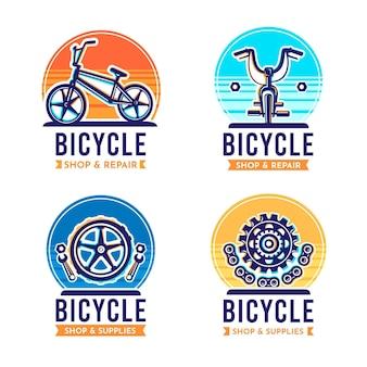 Coleção de logotipo de bicicleta plana