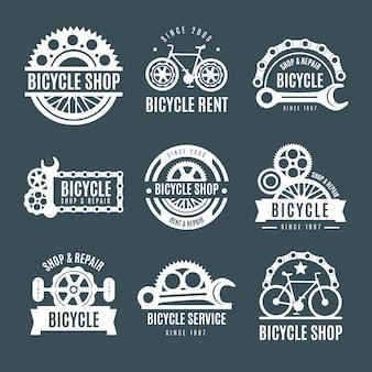 Coleção de logotipo de bicicleta