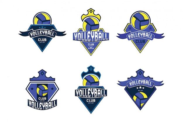 Coleção de logotipo de bola de vôlei