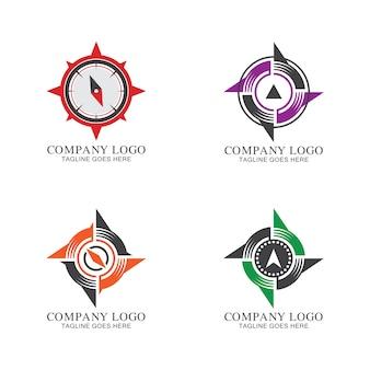 Coleção de logotipo de bússola
