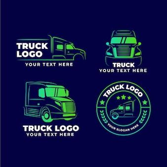Coleção de logotipo de caminhão gradiente