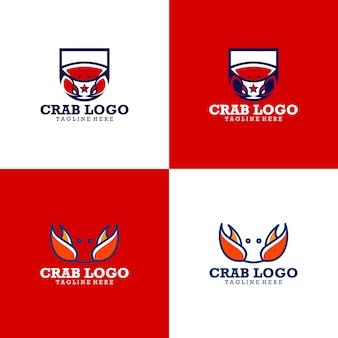 Coleção de logotipo de caranguejo