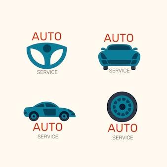 Coleção de logotipo de carro design plano