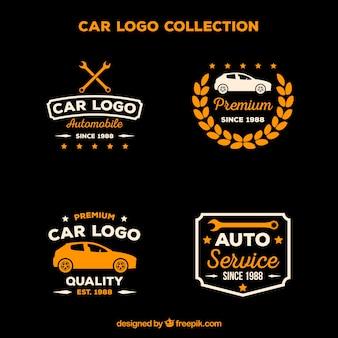Coleção de logotipo de carro plano