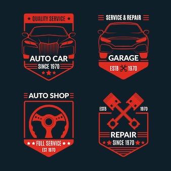 Coleção de logotipo de carro