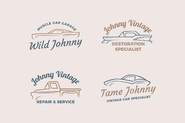 Coleção de logotipo de carros antigos