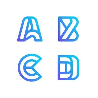 Coleção de logotipo de carta