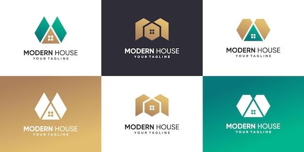 Coleção de logotipo de casa moderna premium vector