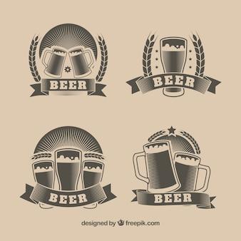 Coleção de logotipo de cerveja vintage