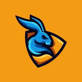 Coleção de logotipo de coelho