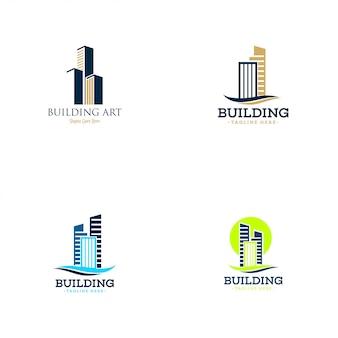 Coleção de logotipo de construção