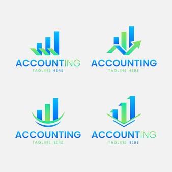 Coleção de logotipo de contabilidade de design plano