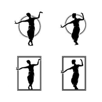 Coleção de logotipo de dança