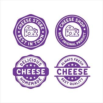 Coleção de logotipo de design de carimbo de queijo