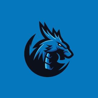Coleção de logotipo de dragão