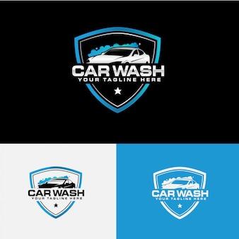Coleção de logotipo de empresa de lavagem de carro