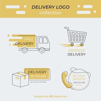 Coleção de logótipo de entrega