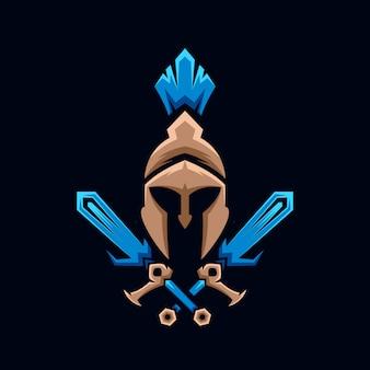 Coleção de logotipo de espada espartano