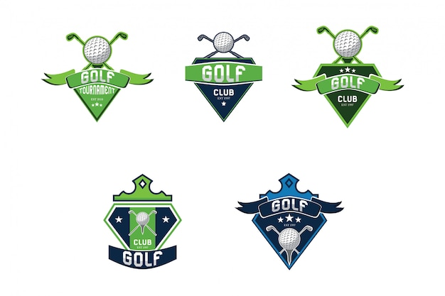 Coleção de logotipo de esporte de golfe