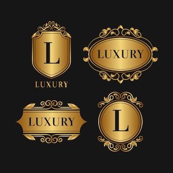 Coleção de logotipo de estilo retro de luxo