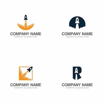 Coleção de logotipo de foguete