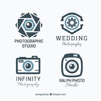 Coleção de logotipo de fotografia geométrica